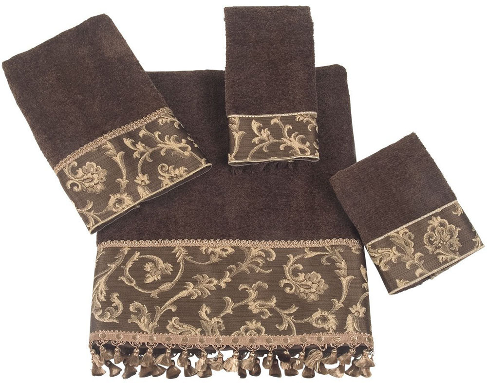 Decorative bath towels home decorator shop for How to fold decorative bathroom towels