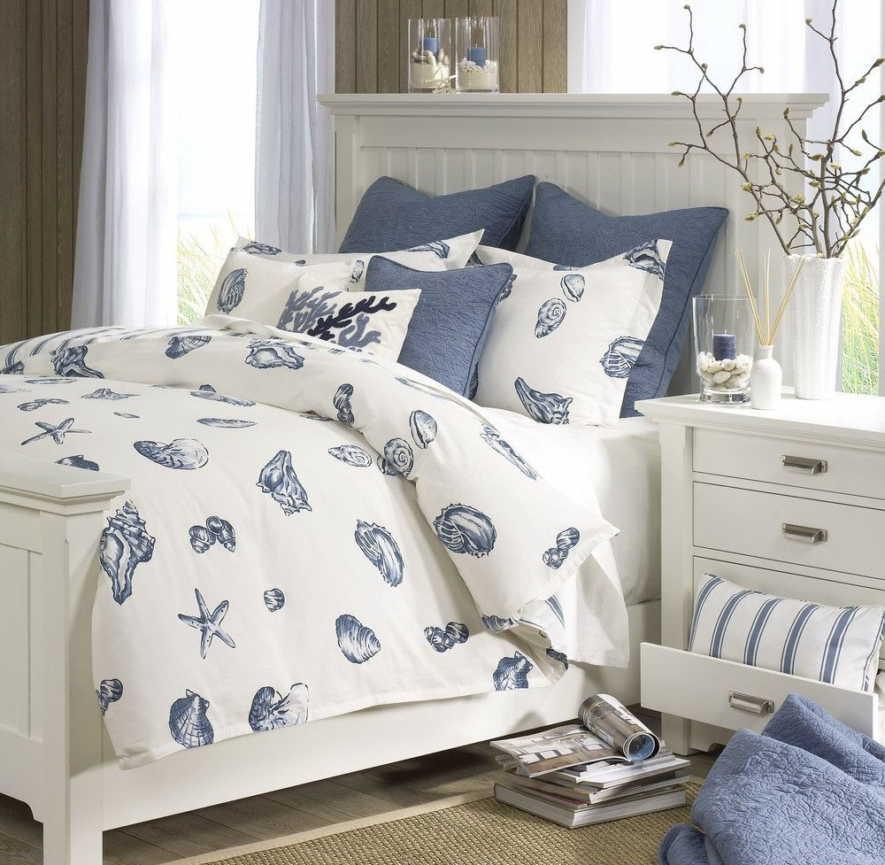 Beach themed bedding home decorator shop for Bedroom beach theme ideas
