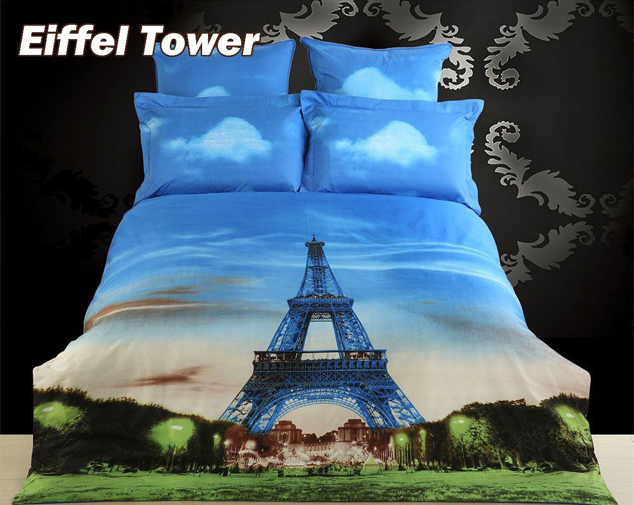 eiffel tower duvet cover - Eiffel Tower Decor For Bedroom