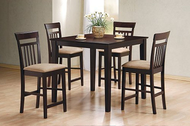 Tall Dining Table Set with Chairs