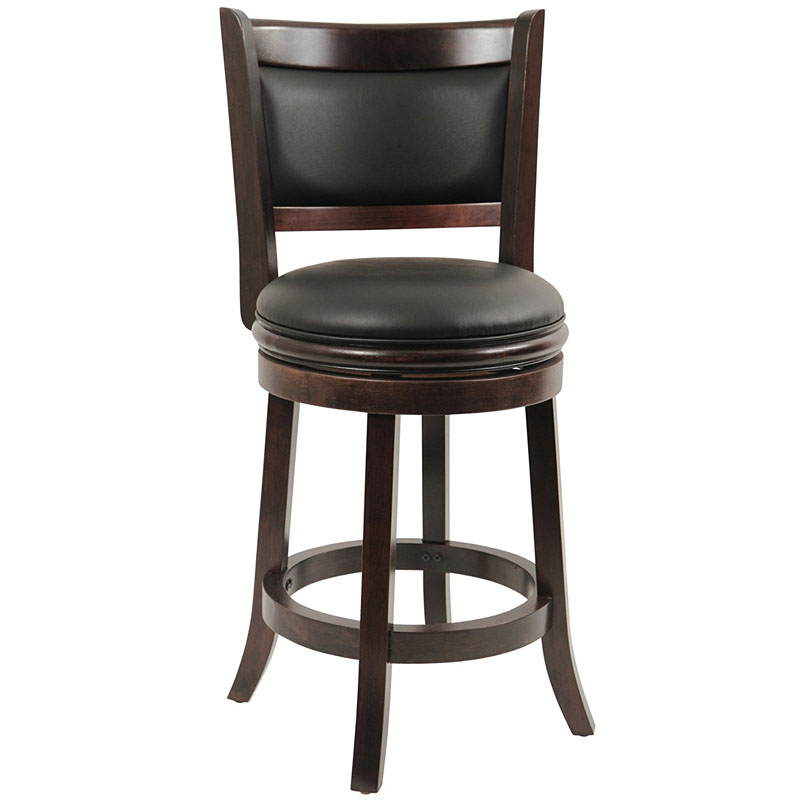 Counter Bar Stools with Swivel and Back