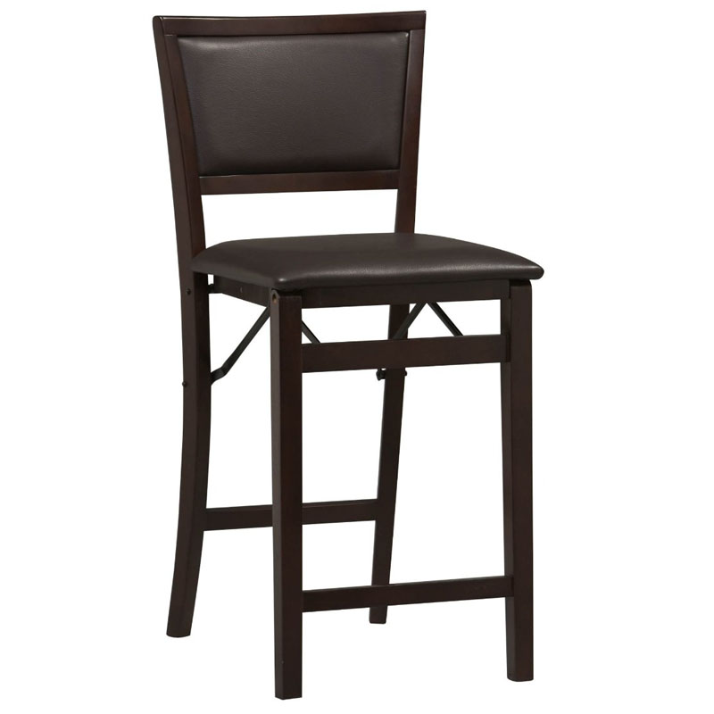 24-Inch Pad Back Folding Counter Stool