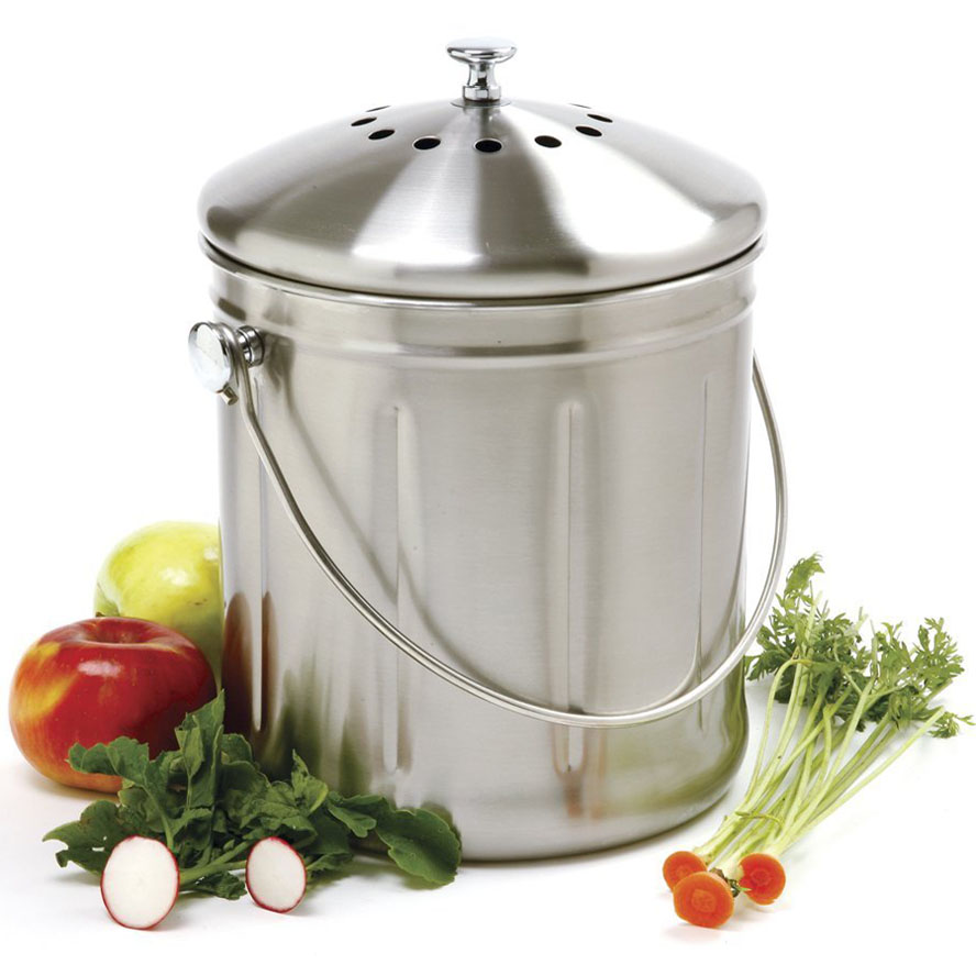 Stainless Steel Kitchen Compost Container