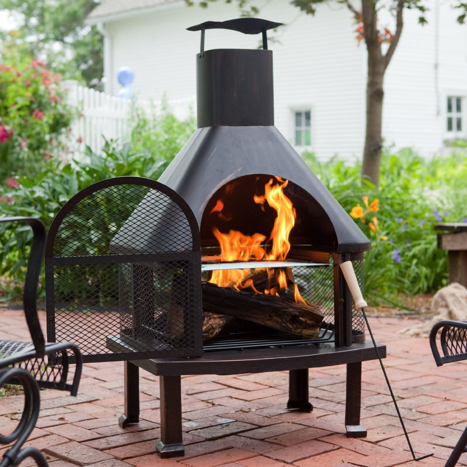 Outdoor Chiminea Fireplace