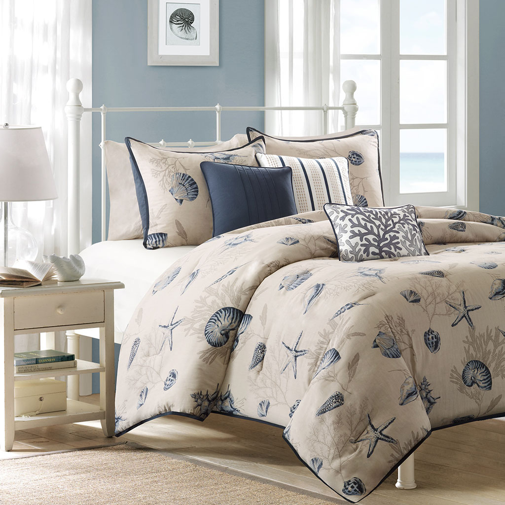 Beach Theme Seashell Starfish Bedding